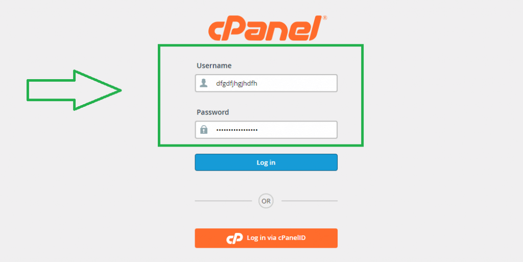Log to your cPanel Account